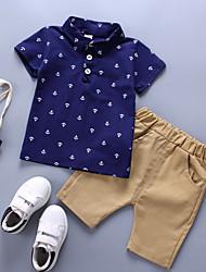 cheap -Baby Boys' Basic Print Short Sleeve Cotton Clothing Set / Toddler
