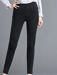 abordables -Mujer Básico Traje Pantalones - Un Color