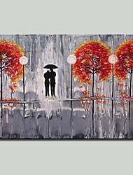 abordables -mintura® peint à la main abstrait arbre rouge peinture à l'huile sur toile photo d'art moderne mur pour la décoration prêt à accrocher