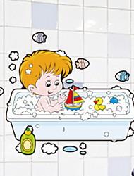 Недорогие -Стикер на стену Водонепроницаемый / Новый дизайн / Самоклеющиеся Обычные / Мультяшная тематика / Modern ПВХ 1шт Украшение ванной комнаты