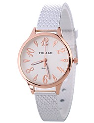 cheap -Xu™ Women's Wrist Watch Chinese Creative / Casual Watch / Large Dial Alloy Band Fashion / Minimalist Black / Blue / Silver / One Year