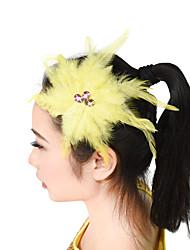 baratos -Acessórios de Dança Decoração de Cabelo Mulheres Espetáculo Penas Pedrarias / Penas / Flor Fadas / Tema Boho