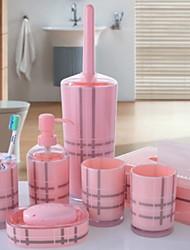 baratos -Jogo de Acessórios para Banheiro Novo Design / Multifunções Moderna Acrílico 7pçs - Banheiro Solteiro (L150 cm x C200 cm)