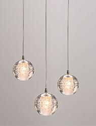 cheap -3-Light Globe Pendant Light Ambient Light - Mini Style, Creative, 110-120V / 220-240V Bulb Not Included