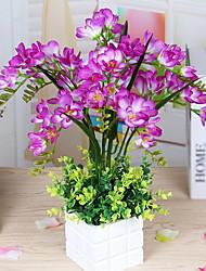 baratos -Flores artificiais 1 Ramo Clássico Rústico / Tradicional Vaso Flor de Mesa