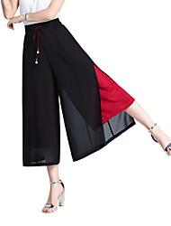abordables -Mujer Chic de Calle Chinos Pantalones - Un Color