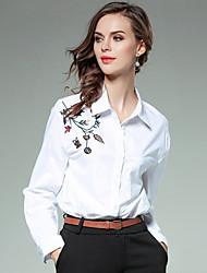 cheap -SHIHUATANG Women's Business / Active Shirt - Floral Embroidered