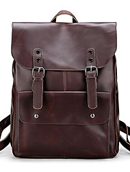 cheap -Men's Bags PU(Polyurethane) Backpack Buttons Brown