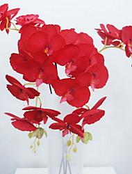 abordables -Fleurs artificielles 1 Une succursale Classique Rustique Orchidées Arbre de Noël