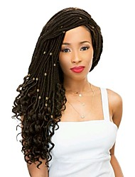 "cheap -Braiding Hair Wavy Twist Braids / Curly Braids / Pre-loop Crochet Braids Synthetic Hair 1 Piece, 24 roots / pack Hair Braids 18"" Dreadlock Extensions / 100% kanekalon hair / Crochet Faux Dreads"