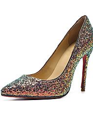 preiswerte -Damen Schuhe Leder Herbst Winter Pumps High Heels Stöckelabsatz Spitze Zehe Regenbogen / Hochzeit / Party & Festivität