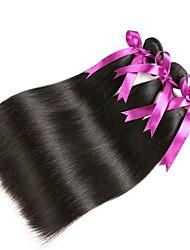 Недорогие -3 Связки Перуанские волосы Прямой Натуральные волосы Человека ткет Волосы / Удлинитель / Пучок волос 8-28 дюймовый Ткет человеческих волос Машинное плетение