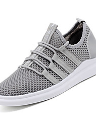 cheap -Men's Fabric / Mesh Summer Comfort Athletic Shoes Running Shoes White / Black / Gray