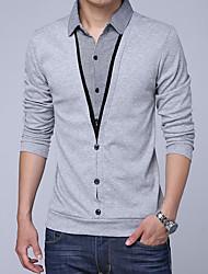 お買い得  -男性用 Tシャツ 活発的 / ベーシック カラーブロック