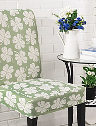 cheap -Chair Cover Floral Jacquard Polyester / Cotton Slipcovers
