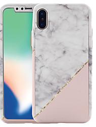 economico -Custodia Per Apple iPhone X / iPhone 8 Fantasia / disegno Integrale Effetto marmo Resistente PC per iPhone X / iPhone 8 Plus / iPhone 8