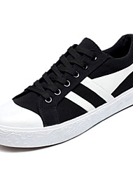cheap -Men's Canvas Spring / Summer Comfort Sneakers Red / Black / White / White / Silver