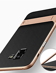Недорогие -Кейс для Назначение SSamsung Galaxy A8 Plus 2018 / A8 2018 Защита от удара / со стендом Кейс на заднюю панель броня Твердый ПК для A8 2018 / A8+ 2018