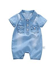 お買い得  -赤ちゃん 男の子 ソリッド 半袖 オーバーオール&ジャンプスーツ