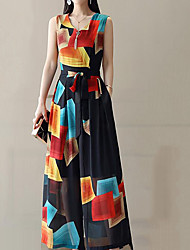 economico -Per donna Moda città / sofisticato Tuta Fantasia geometrica