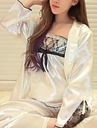 abordables -Mujer Asimétrico Traje Pijamas Bordado