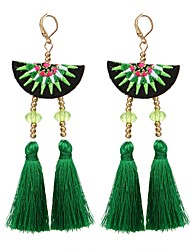 cheap -Women's Drop Earrings - Romantic, Fashion Black / Rose / Green For Party / Daily