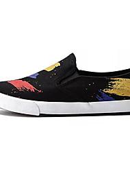 povoljno -Muškarci Cipele Platno Ljeto Svjetleće tenisice Natikače i mokasinke Crn / Dark Blue / Crvena