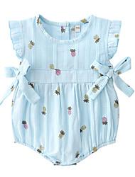 abordables -Bebé Chica Piña Estampado Sin Mangas Bodysuit