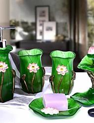 Недорогие -Набор аксессуаров для ванной Новый дизайн Современный Резина 5 шт. - Ванная комната Односпальный комплект (Ш 150 x Д 200 см)