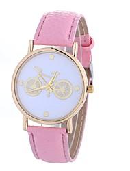 cheap -Xu™ Women's Dress Watch Wrist Watch Quartz Creative Casual Watch Large Dial PU Band Analog Casual Fashion Black / White / Blue - Green Blue Pink One Year Battery Life