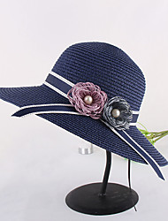 Недорогие -Жен. Активный / Праздник Соломенная шляпа Контрастных цветов