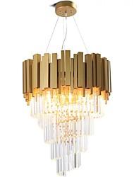 Недорогие -QIHengZhaoMing 9-Light Кристаллы Люстры и лампы Рассеянное освещение Окрашенные отделки Металл 110-120Вольт / 220-240Вольт Теплый белый Лампочки включены