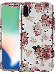 Недорогие -Кейс для Назначение Apple iPhone X / iPhone 8 С узором Чехол Цветы Твердый ПК для iPhone X / iPhone 8 Pluss / iPhone 8