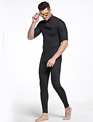cheap -Men's Shorty Wetsuit 3mm SCR Neoprene Diving Suit Anatomic Design, Stretchy Short Sleeve Back Zip Solid Colored Autumn / Fall / Spring / Summer