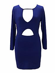 preiswerte -Damen Street Schick Bodycon / Hülle Kleid - Ausgehöhlt, Solide Mini