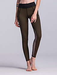 cheap -Women's Sporty Legging - Solid Colored, Mesh High Waist