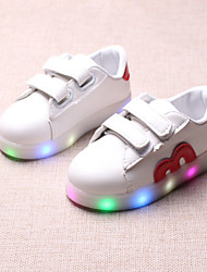 cheap -Boys' / Girls' Shoes PU(Polyurethane) Spring / Fall / Spring & Summer Comfort / Light Up Shoes Boots Chain / Magic Tape / LED for Kids / Baby Black / Red / Blue