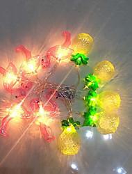 abordables -1.5m Guirlandes Lumineuses 10 LED Blanc Chaud / Blanc Batteries alimentées