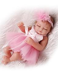 Недорогие -NPKCOLLECTION Куклы реборн Девочки 12 дюймовый Полный силикон для тела Силикон Винил - как живой Детские Девочки Игрушки Подарок