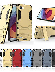 cheap -Case For LG Q6 with Stand Back Cover Solid Colored Hard PC for LG Q6