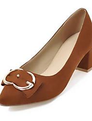 abordables -Femme Chaussures Cuir Nubuck Printemps été Nouveauté / Escarpin Basique Chaussures à Talons Talon Bottier Bout pointu Beige / Marron /