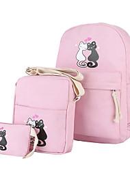 cheap -Unisex Bags Polyester / Canvas Backpack Pattern / Print / Zipper Blushing Pink / Light Green / Royal Blue