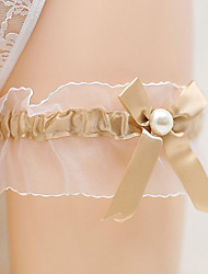 cheap -Chiffon Satin / Tulle Classic Jewelry / Vintage Style Wedding Garter 617 Bowknot / Ruffle Garters Wedding / Party & Evening