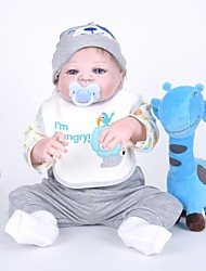 cheap -FeelWind Reborn Doll Baby Boy 22 inch Full Body Silicone - lifelike, Artificial Implantation Blue Eyes Kid's Boys' Gift