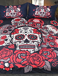 Недорогие -наборы для одеяла на Хэллоуин 3-полосная реактивная печать 3 шт.