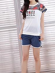 povoljno -Žene U izrez Odijelo Pidžama Cvjetni print