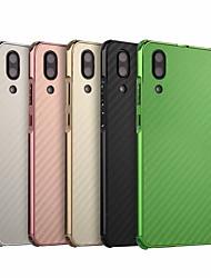 Недорогие -Кейс для Назначение Huawei P20 Защита от удара / Покрытие Кейс на заднюю панель Однотонный Твердый Углеродное волокно / Металл для Huawei P20