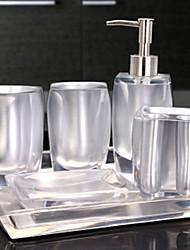 Недорогие -Набор аксессуаров для ванной Новый дизайн / Многофункциональный Современный Резина 6шт - Ванная комната Односпальный комплект (Ш 150 x Д
