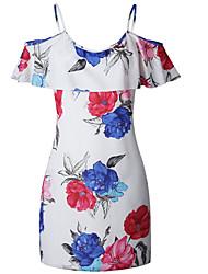 お買い得  -膝のストラップの上に女性のスリムシースドレス