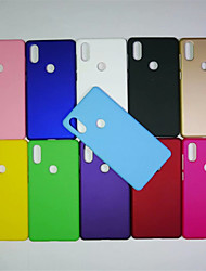 Недорогие -Кейс для Назначение Xiaomi Mi 8 / Mi 6X Матовое Кейс на заднюю панель Однотонный Твердый ПК для Xiaomi Mi Mix 2 / Xiaomi Mi Mix 2S / Xiaomi Mi 8